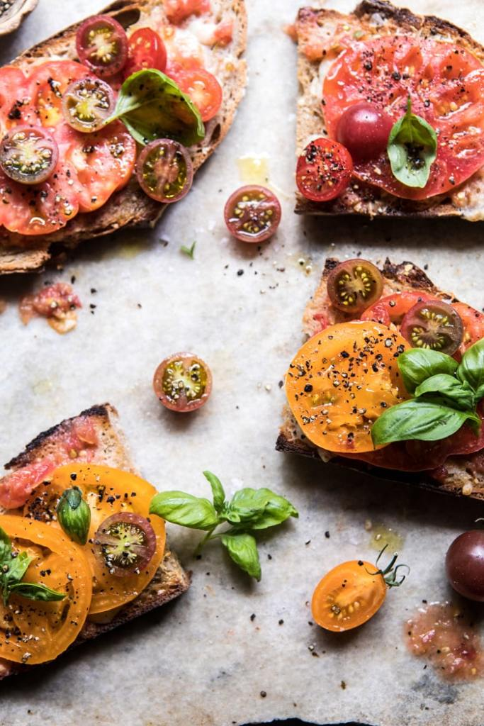 Garlicy-Heirloom-Tomato-Basil-and-Manchego-Toast-8-700x1050
